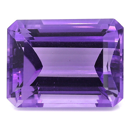 12.48 Carat Emerald Cut Amethyst: Rich Purple