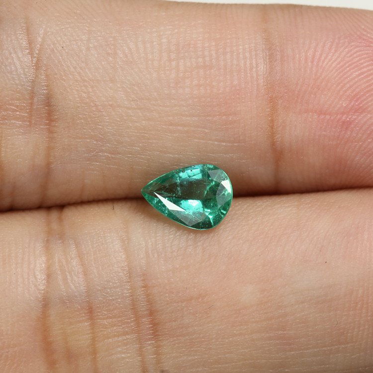 0.74ct Lab Certified Zambian Emerald