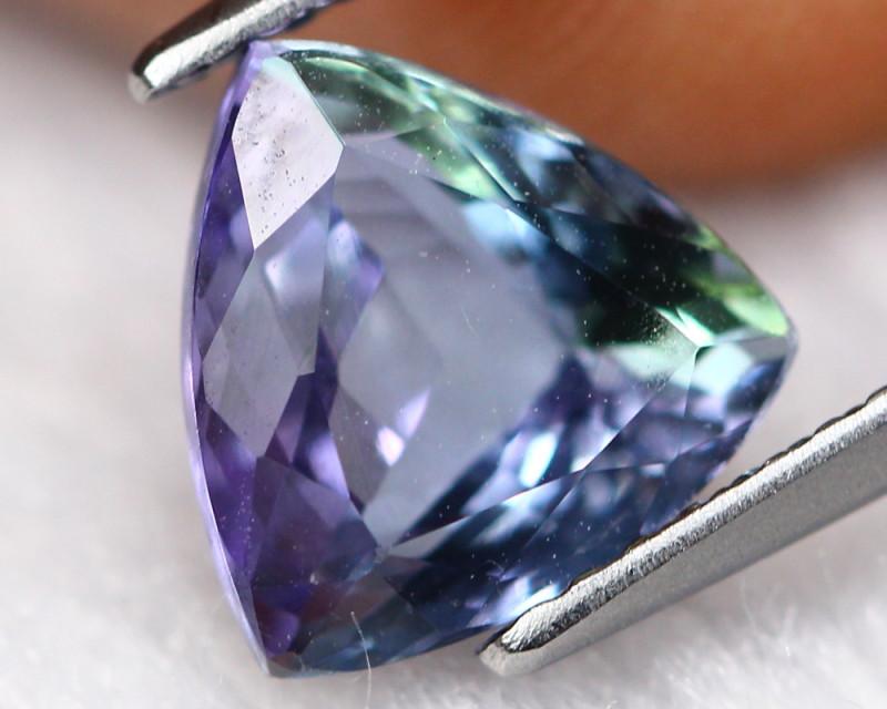 2.37ct Natural Greenish Violet Blue Tanzanite Trillion Cut Lot GB1055