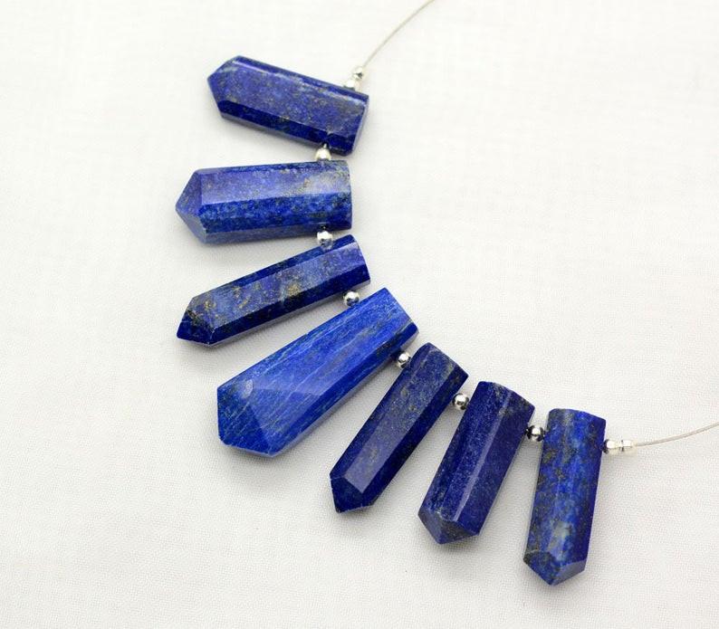 7 Pieces Amazing Lapis Lazuli Drilled Crystals@IM171