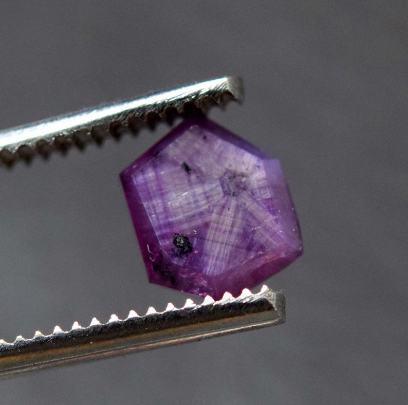 Rarest 2.35 Carats Attractive Dark Purple Color Natural Kashmir Sapphire Tr