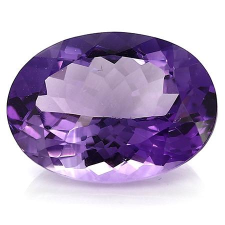11.42 Carat Oval Amethyst: Rich Purple