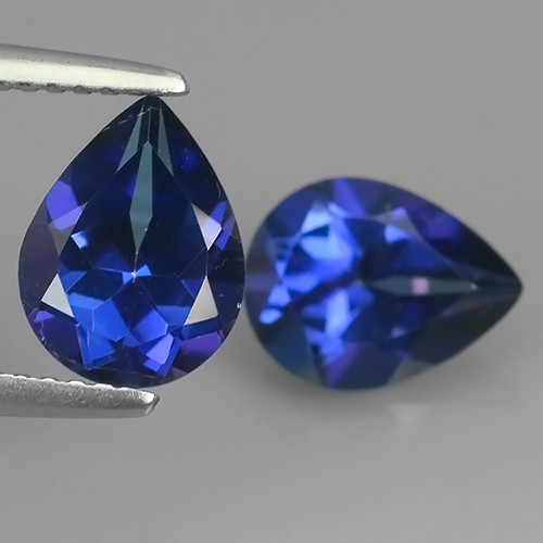 3.95 CTS WONDERFUL TANZANITE COLOR COTED TOPAZ PEAR