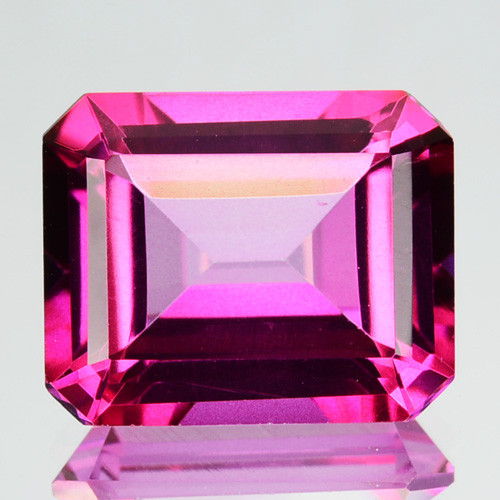 ~EMERALD CUT~ 3.99 Cts Candy Pink Natural Topaz 10x8mm Octagon Brazil