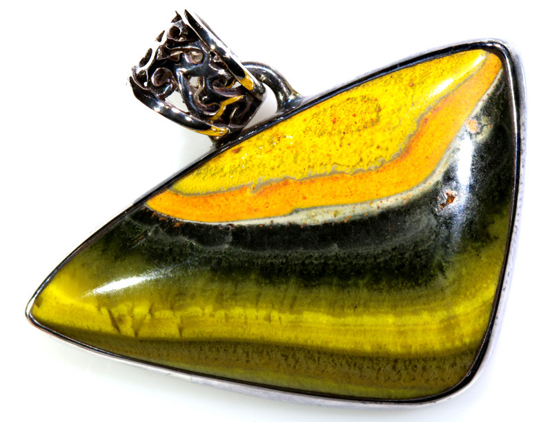 36.85 CTS BUMBLE BEE JASPER PENDANT    SG-3066