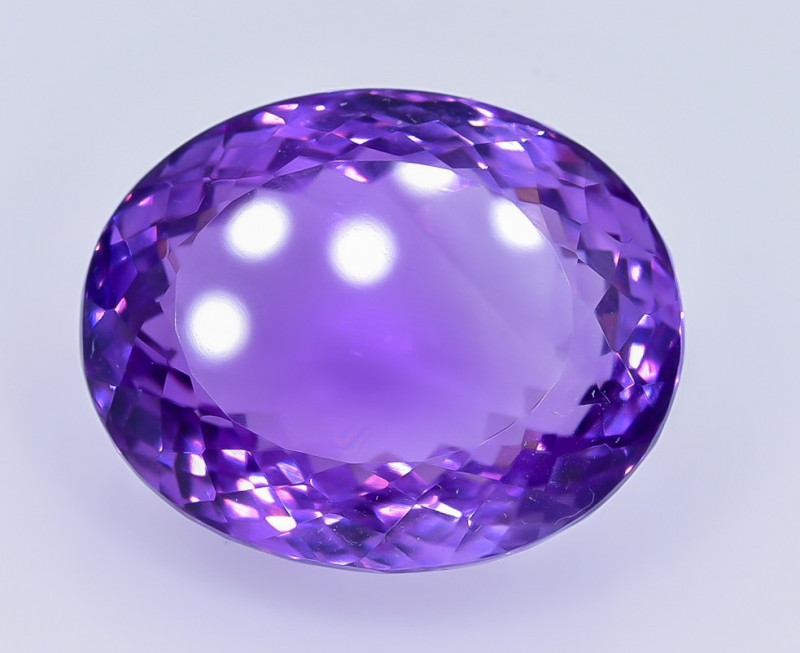 38.92 Crt Natural Amethyst Faceted GemstoneTop Grade