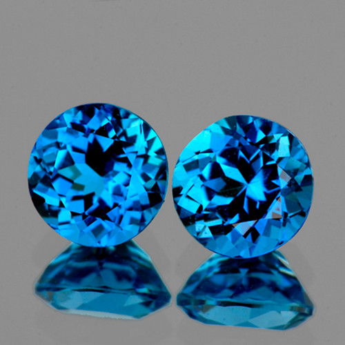 Swiss blue natural topaz heart laser cut loose faceted gem 10mm