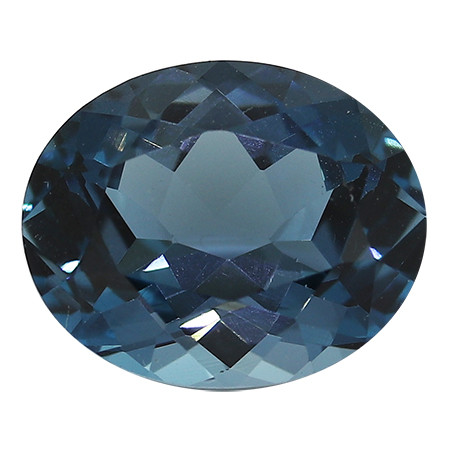 3.24 Carat Oval Blue Topaz: London Grayish Blue
