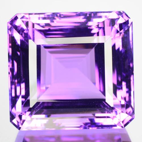 52.81 Cts Natural Top AAA Purple Amethyst Octagon Cut Brazil Gem