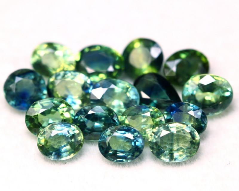 Sapphire 6.58Ct Natural Madagascar Parti Color Sapphire Lot B2211