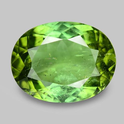 4.00 Cts Unheated Fancy Green Natural Tourmaline Gemstone