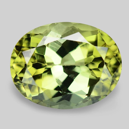 2.04 Cts Unheated Fancy Green Natural Tourmaline Gemstone