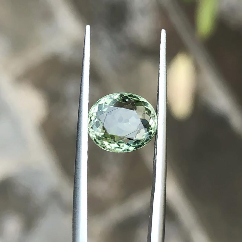 1.90 Ct Natural Green Transparent Tourmaline Round Cut Gemstone