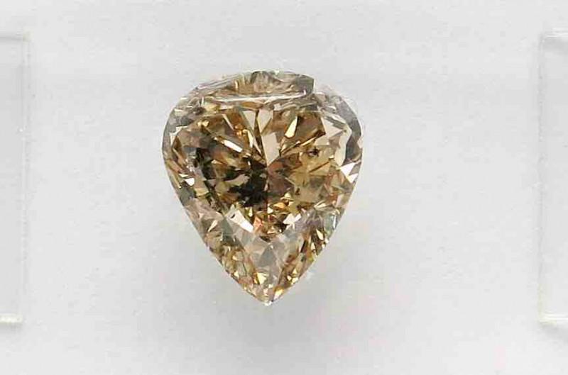 1.75ct  Natural Fancy yellowish Brown Diamond IGI certified  Pear