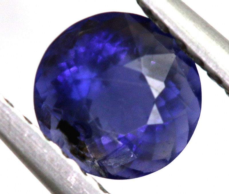 0.68 CTS  IOLITE NATURAL FACETED GEMSTONE RNG-506