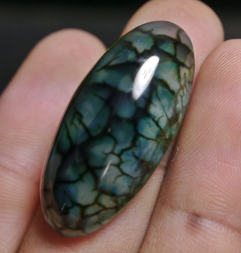 40.40 CT Beautiful Green Dragon Skin Chalcedony Agate