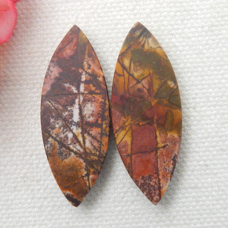 Picasso Jasper Cabochon,Natural Picasso Jasper Gemstonen,Picasso Jasper Palmstone,Picasso Jasper Worry Stone,Size 35x25x6 mm,59.75 Cts,S#767