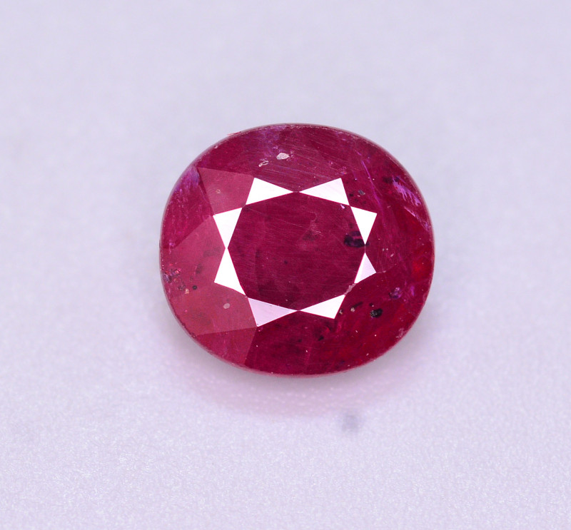 Brilliant Color 2.05 Ct Natural Ruby From Mozambique