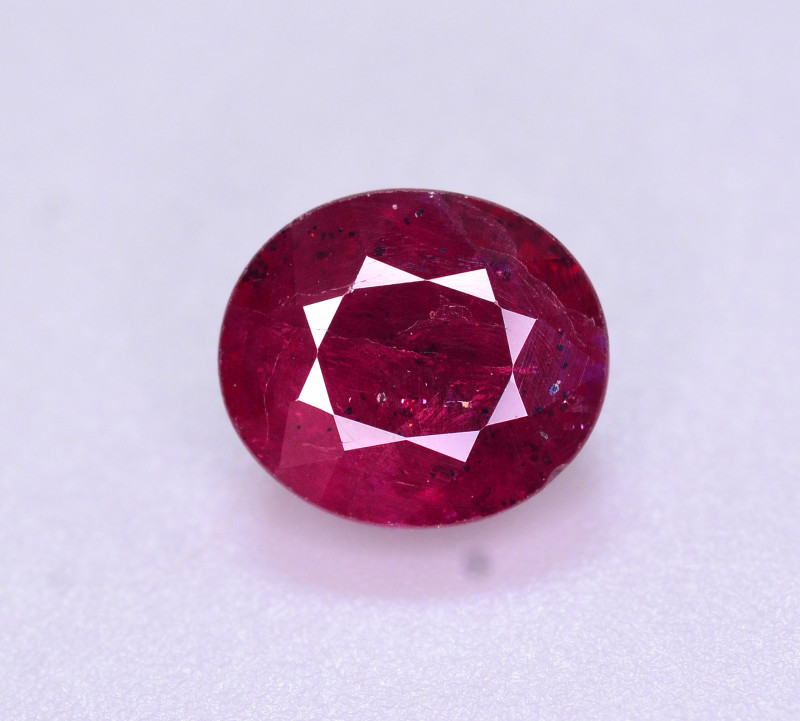 Brilliant Color 2.45 Ct Natural Ruby From Mozambique