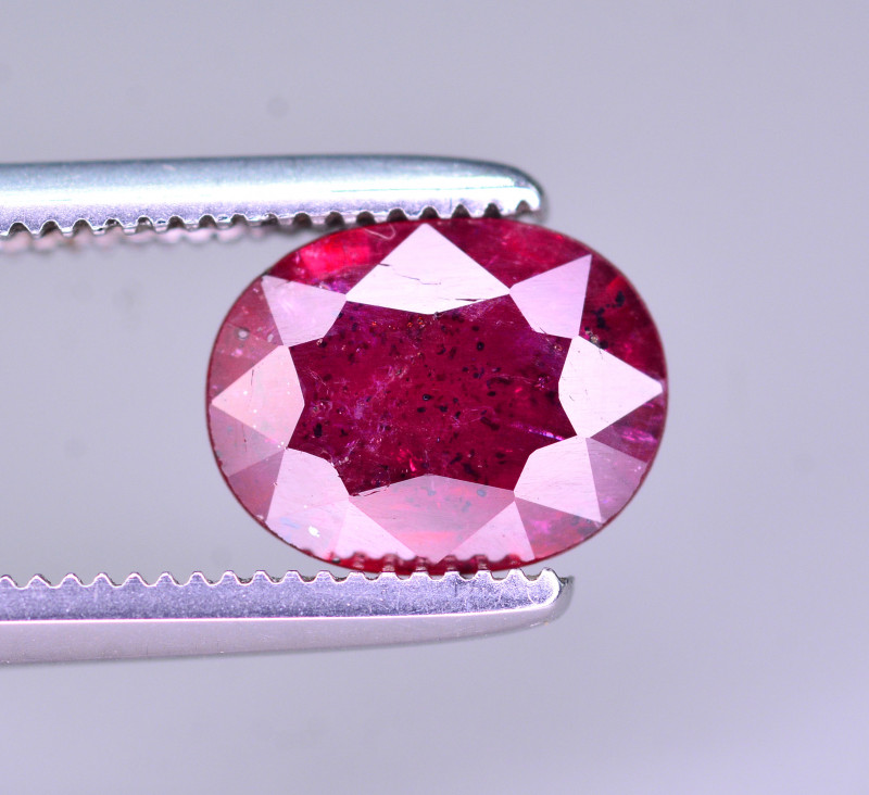 Brilliant Color 1.05 Ct Natural Ruby From Mozambique