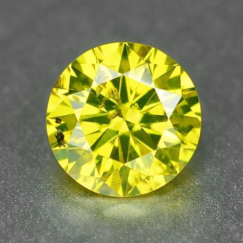 0.28  Carat Very Rare Vivid  Yellow Natural Loose Diamond