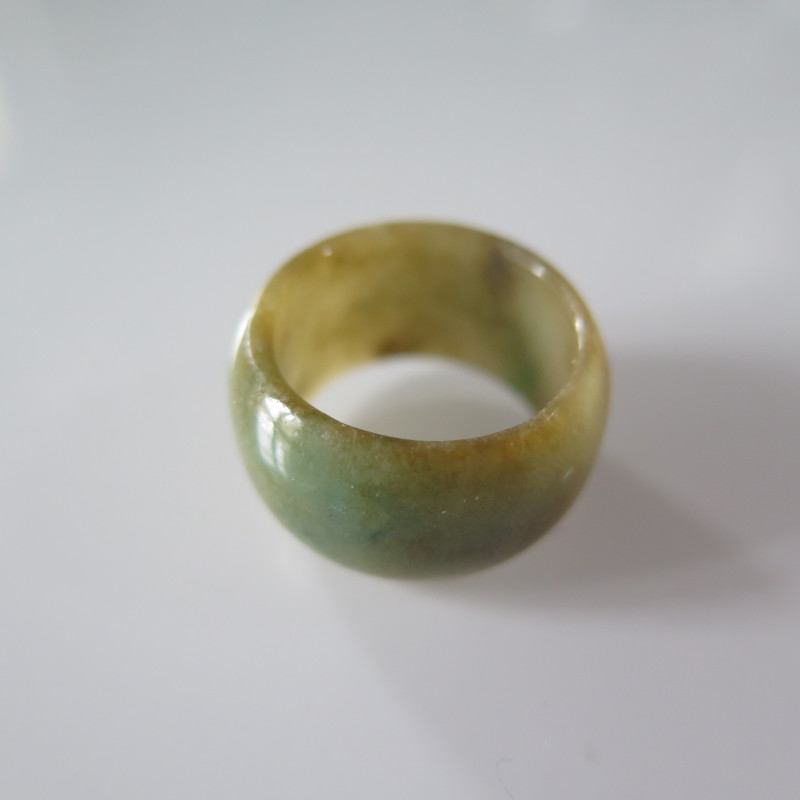 NATURAL JADEITE RING from BURMA....37.99cts...size 8 1/3