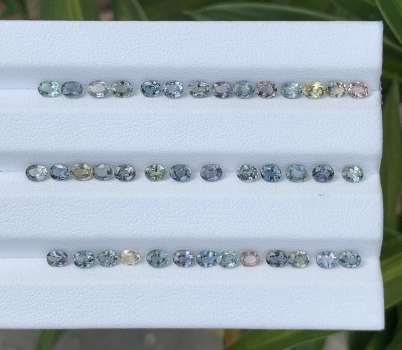 10.50 Carats Sapphire Gemstones Parcels