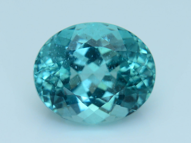 Great Luster 5.81 ct Apatite Mesmerizing Caribbean Color