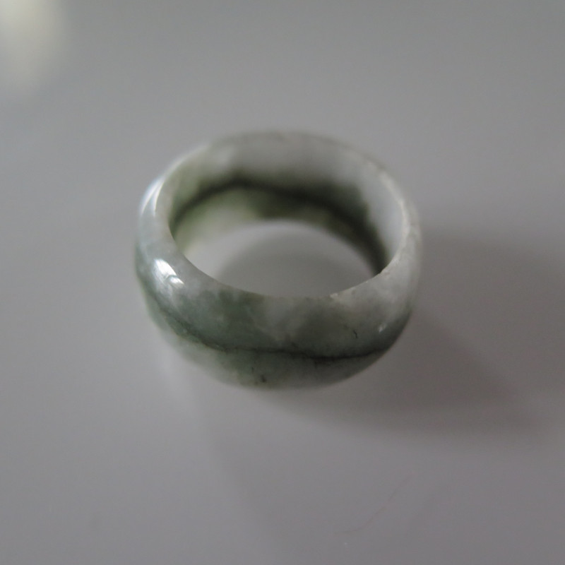 NATURAL JADEITE RING from BURMA....30.49cts...size 8 2/4