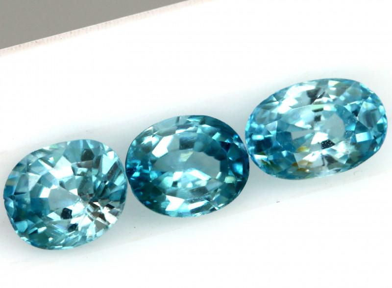 2.51 CTS VVS BLUE ZIRCON FACETED  PARCEL PG-3157