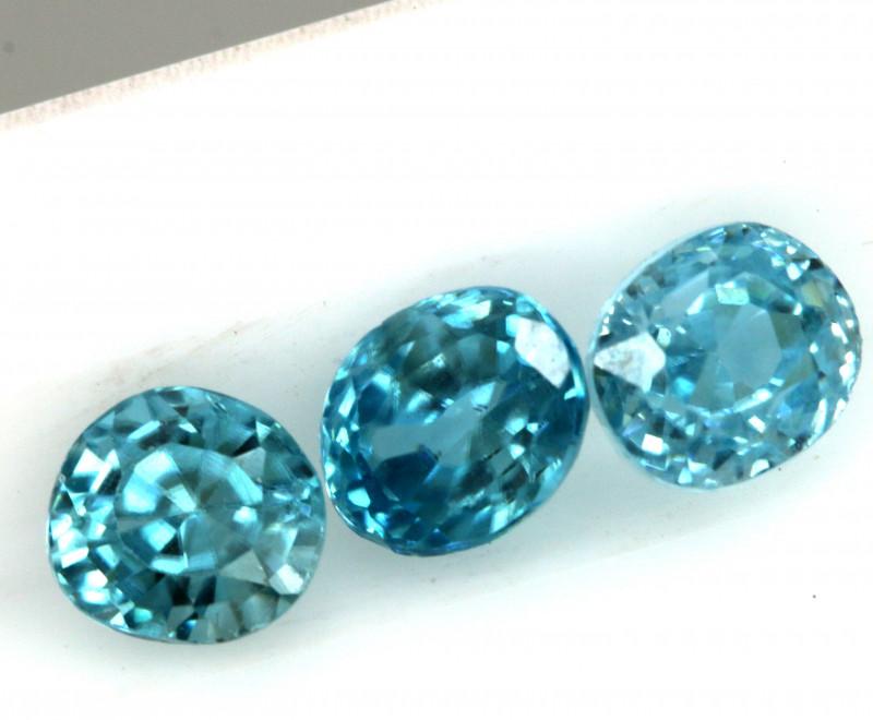 2.12 CTS VVS  BLUE ZIRCON FACETED PARCEL PG-3161