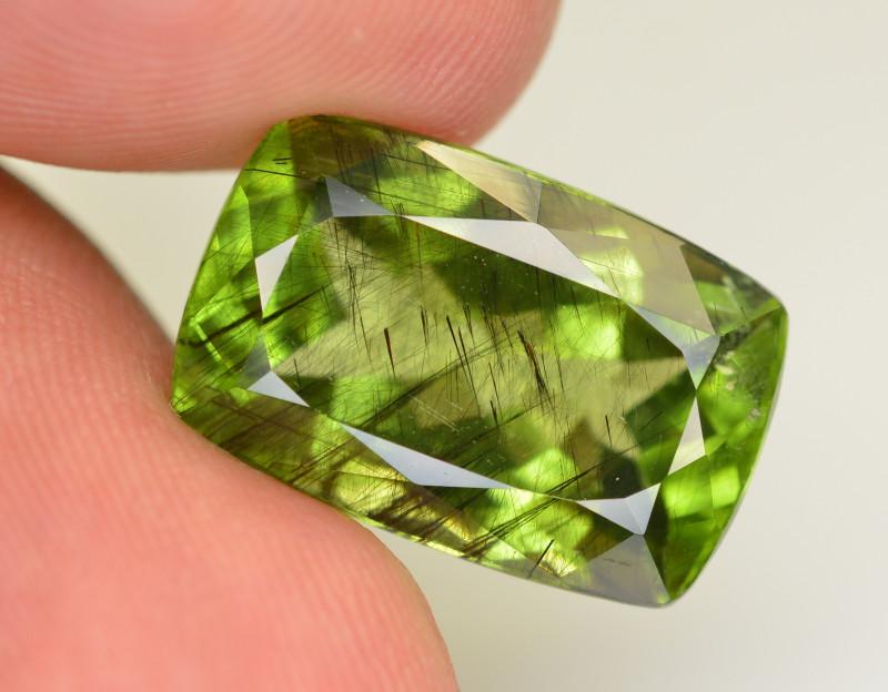 17.70 CT Natural Beautiful Rutile Peridot Gemstone