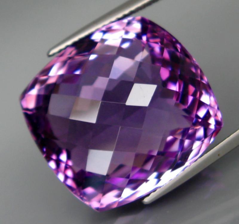 35.77 ct. Natural Top Nice Purple Amethyst Unheated Brazil - IGE Сertified