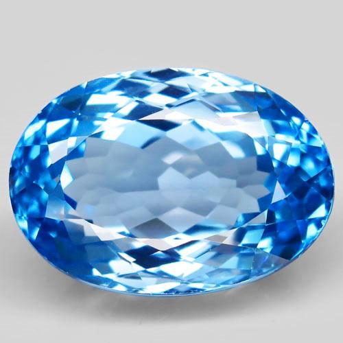 41.38 ct. Natural Swiss Blue Topaz Top Quality Gemstone Brazil  - IGE Сerti