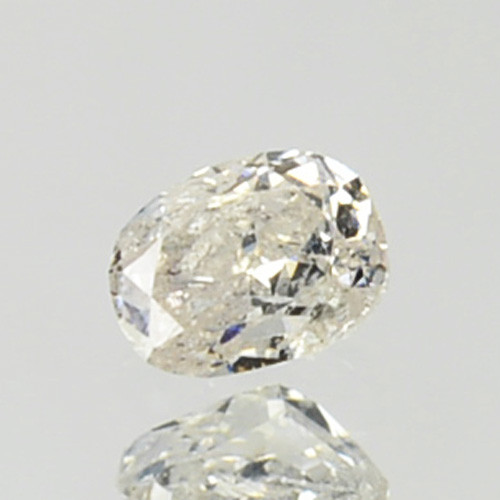 ~UNTREATED~ 0.08 Cts Natural Diamond Fancy White Oval Cut Africa