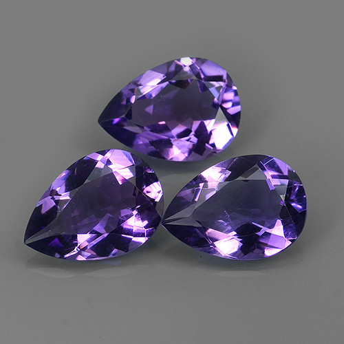 12.75 CTS AWESOME NATURAL PEAR PURPLE~VIOLET AMETHIYST GEM!!