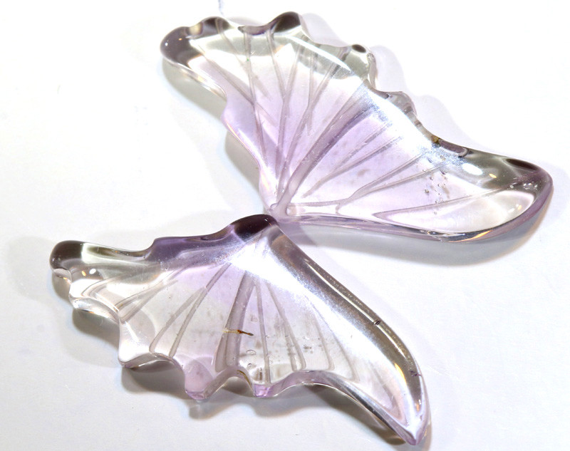 10 CTS AMETHYST BUTTERFLY CARVING  LT-993