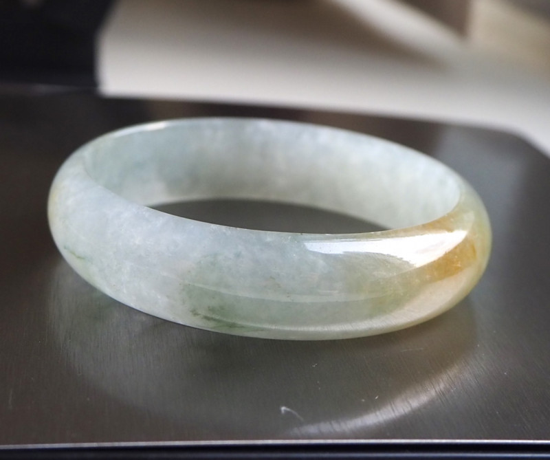 High translucent natural glassy Jade bangle