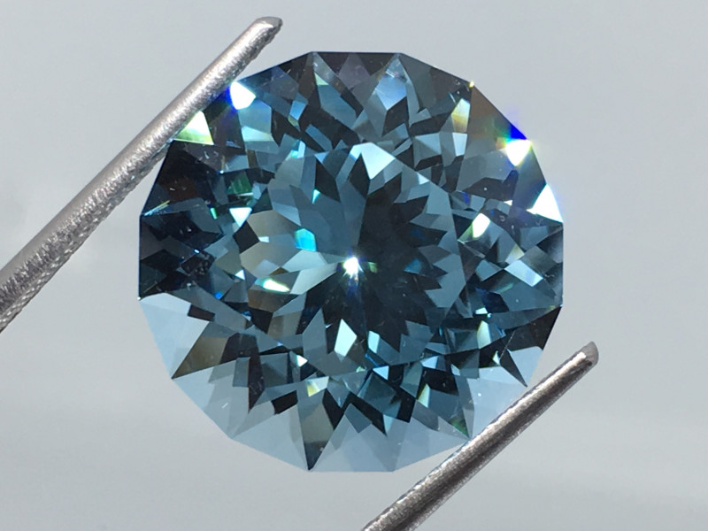 17.02 Carat IF Topaz Swiss Blue Master Cut Flawess Spectacular!