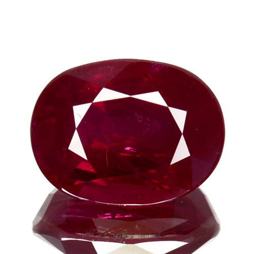 ~RAREST~ 2.02 Cts Natural Ruby Pigeon's Blood Red Oval Cut Brumese
