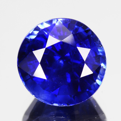 2.03 Cts Excellent Natural Royal Round Blue Sapphire Srilanka Heated Gem
