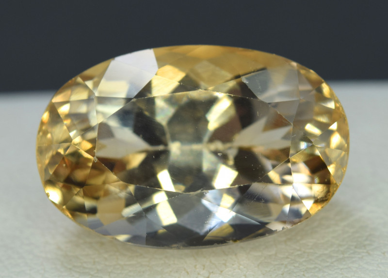 No Reserve - 19.90  Carats Oval Cut Golden Color Kunzite Gemstone From Afgh