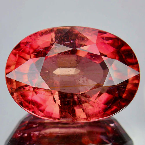 14.50 Cts Beautiful Natural Red Tourmaline Oval Mozambique
