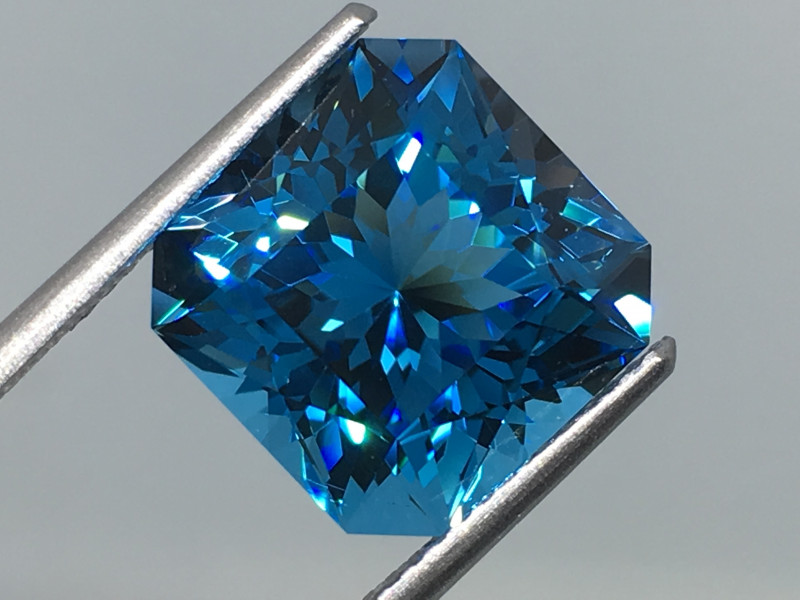 8.80 Carat IF Topaz Electric Blue Master Cut Perfection !
