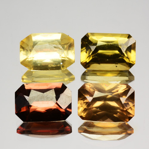 7.21 Cts MARVELOUS NATURAL RARE BROWN AND YELLOW ZIRCON SRILANKA GEMS