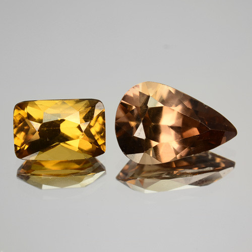 5.12 Cts MARVELOUS NATURAL RARE BROWN AND YELLOW ZIRCON SRILANKA GEMS
