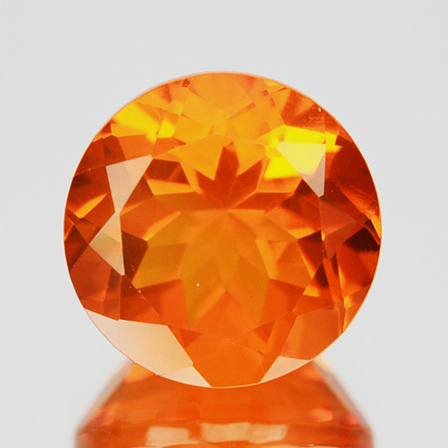 1.60 Cts Natural Top Orange Fire Opal Mexico Gem (Video Avl)
