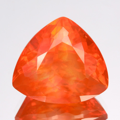 2.98 Cts Natural Top Orange Fire Opal Mexico Gem (Video Avl)