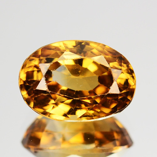 2.22 Cts NATURAL RARE YELLOW ZIRCON SRILANKA GEMS