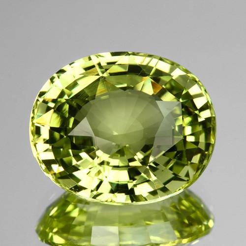 5.23 Cts Natural Lime Green Chrysoberyl Oval Sri Lanka Gem